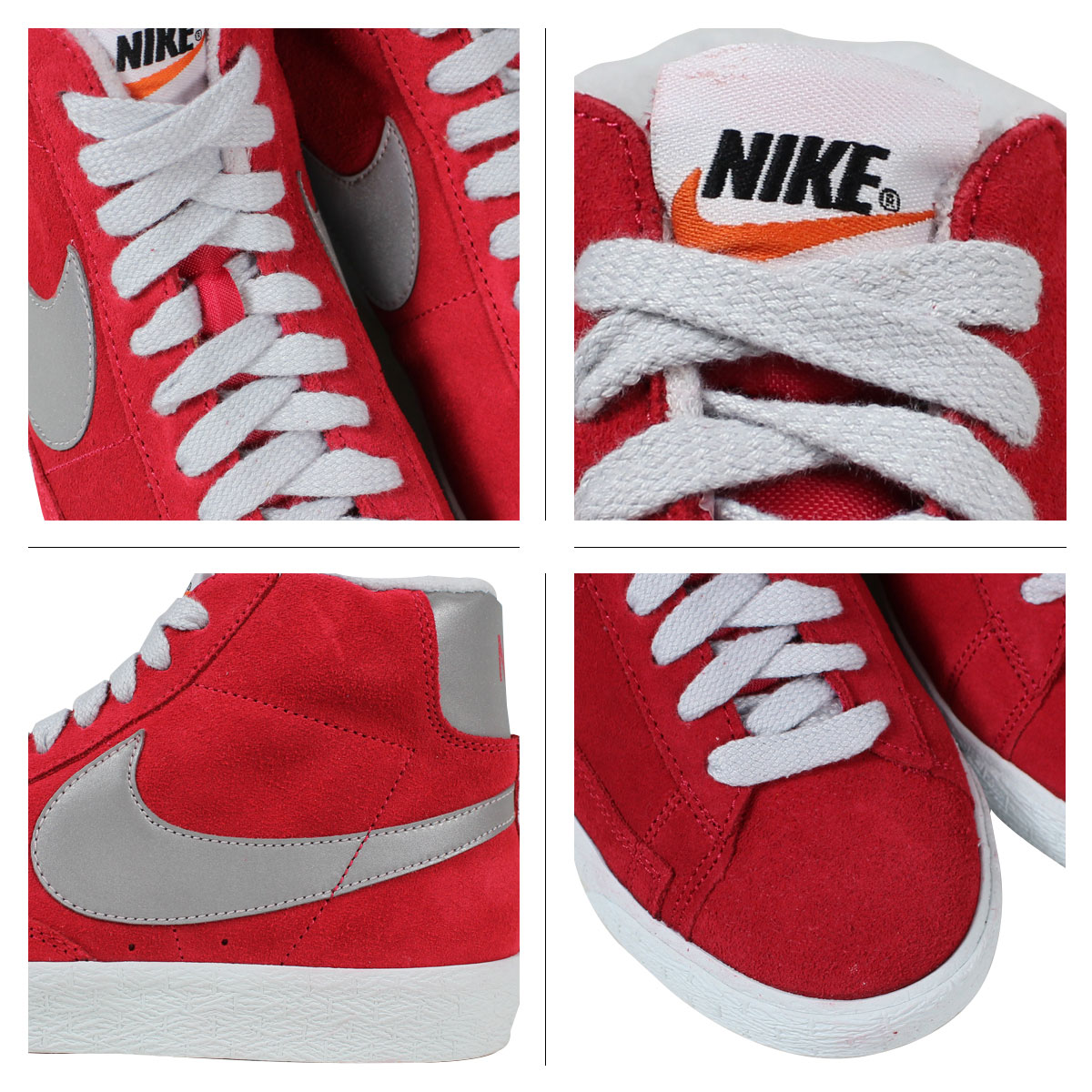 538,282-603 nike NIKE BLAZER MID PRM VNTG SUEDE sneakers blazer mid premium vintage suede men gap Dis basketball shoes suede cloth red
