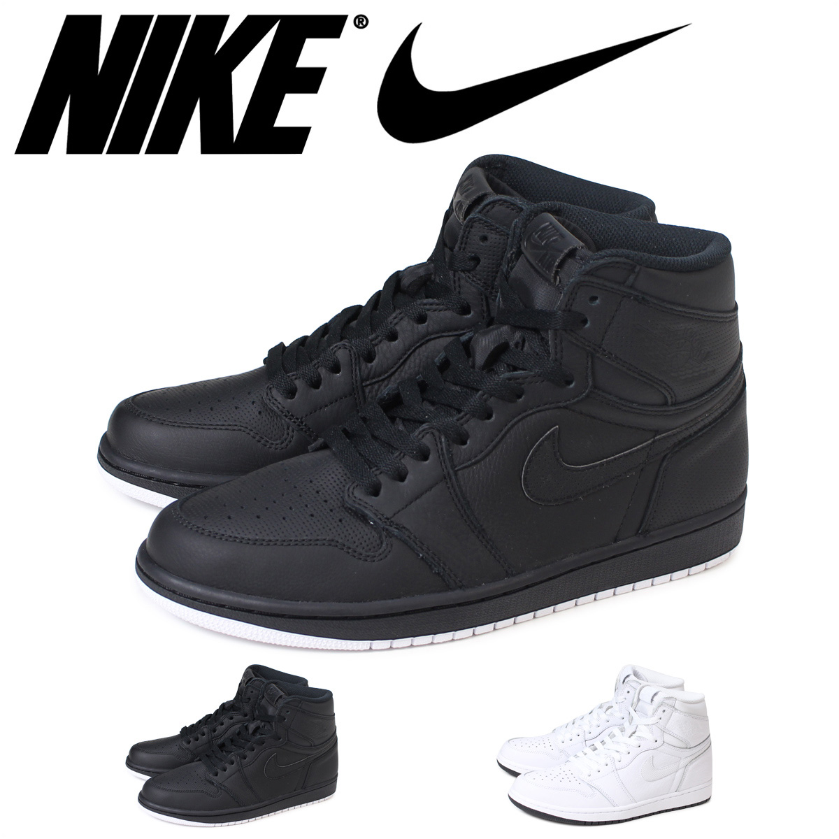 Nike NIKE Air Jordan 1 Nostalgic High Sneakers AIR JORDAN RETRO HI OG 555088 002 100 Mens Shoes Load Planned Shinnyu In Reservation