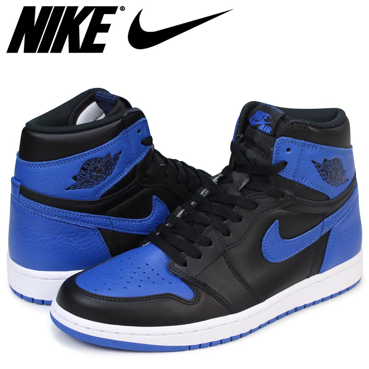 new lifestyle detailed pictures new arrival Nike NIKE Air Jordan 1 nostalgic sneakers AIR JORDAN 1 RETRO HIGH OG ROYAL  555,088-007 men's royal black