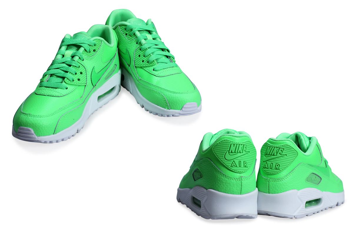 super popular 796e4 8a9a5 Nike NIKE Air Max 90 essential Lady s sneakers AIR MAX 90 MESH GS mesh  724,821-300 shoes green  2 23 Shinnyu load