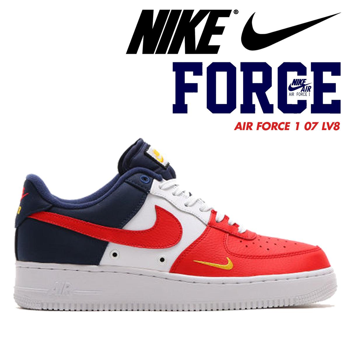 Nike NIKE air force 1 sneakers AIR FORCE 1 LOW 07 LV8 men low 823,511-601 shoes tricolor [6/15 Shinnyu load]