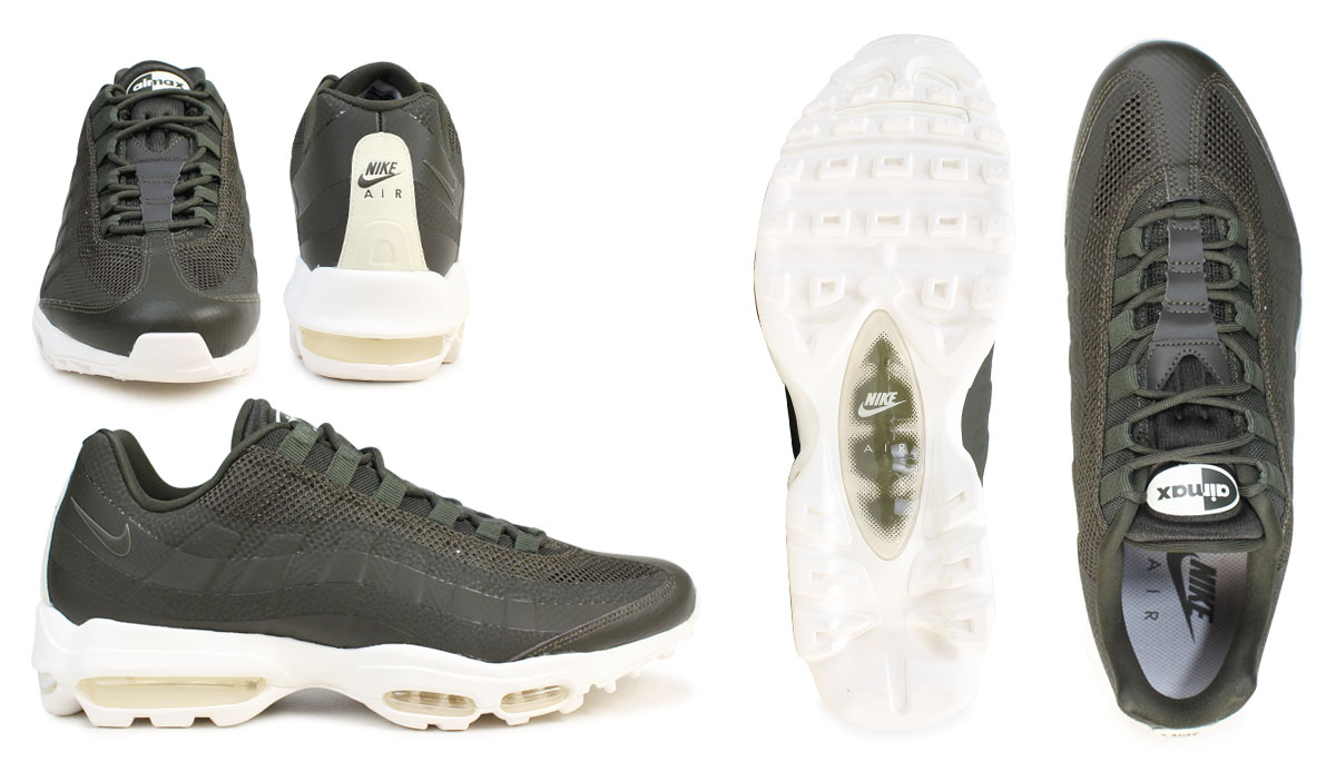 official photos bc3db 13520 NIKE AIR MAX 95 ULTRA ESSENTIAL Kie Ney AMAX 95 sneakers men ultra  essential khaki 857,910-300
