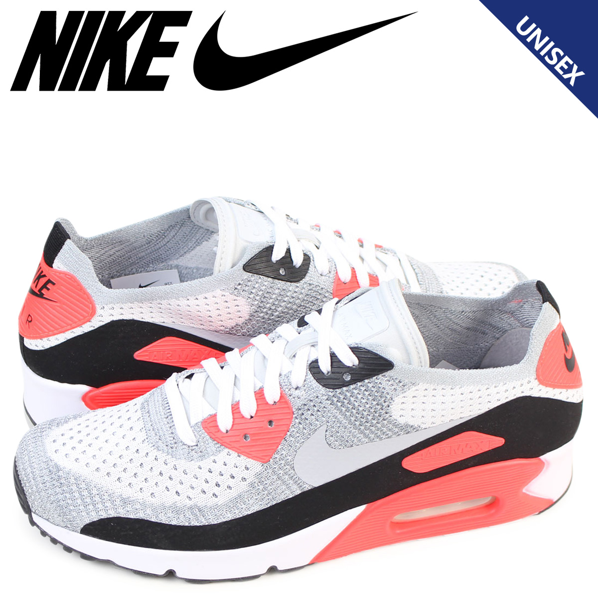 huge discount 614ba 820f5 Nike NIKE Air Max 90 ultra men fly knit sneakers AIR MAX 90 ULTRA 2.0  FLYKNIT 875,943-100 white
