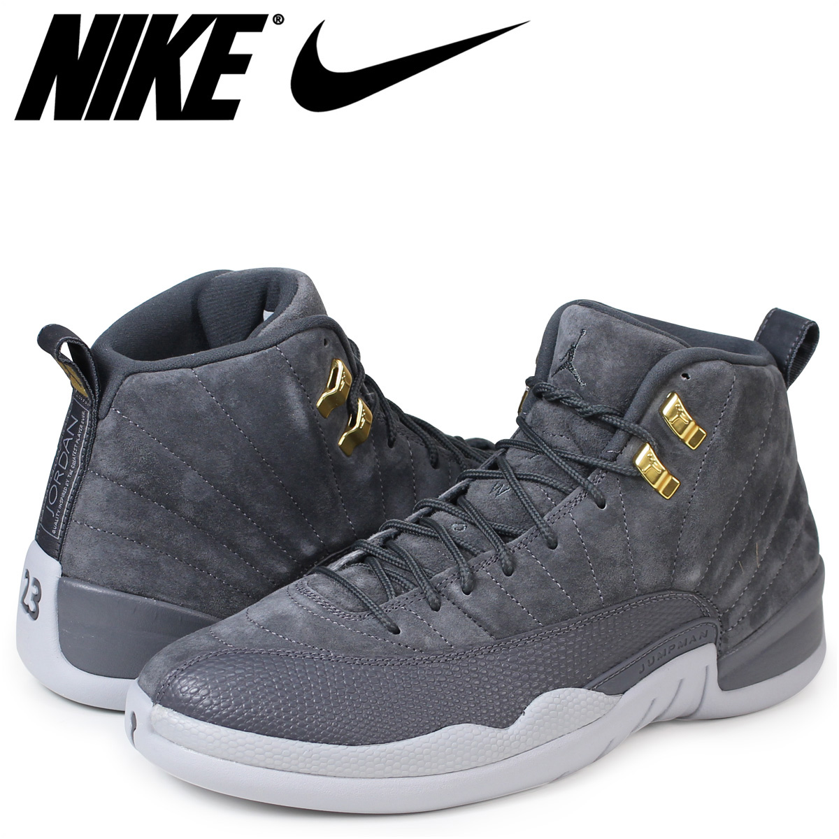 buy popular 8d389 aff3a NIKE AIR JORDAN 12 RETRO Nike Air Jordan 12 sneakers nostalgic men gray  130,690-005