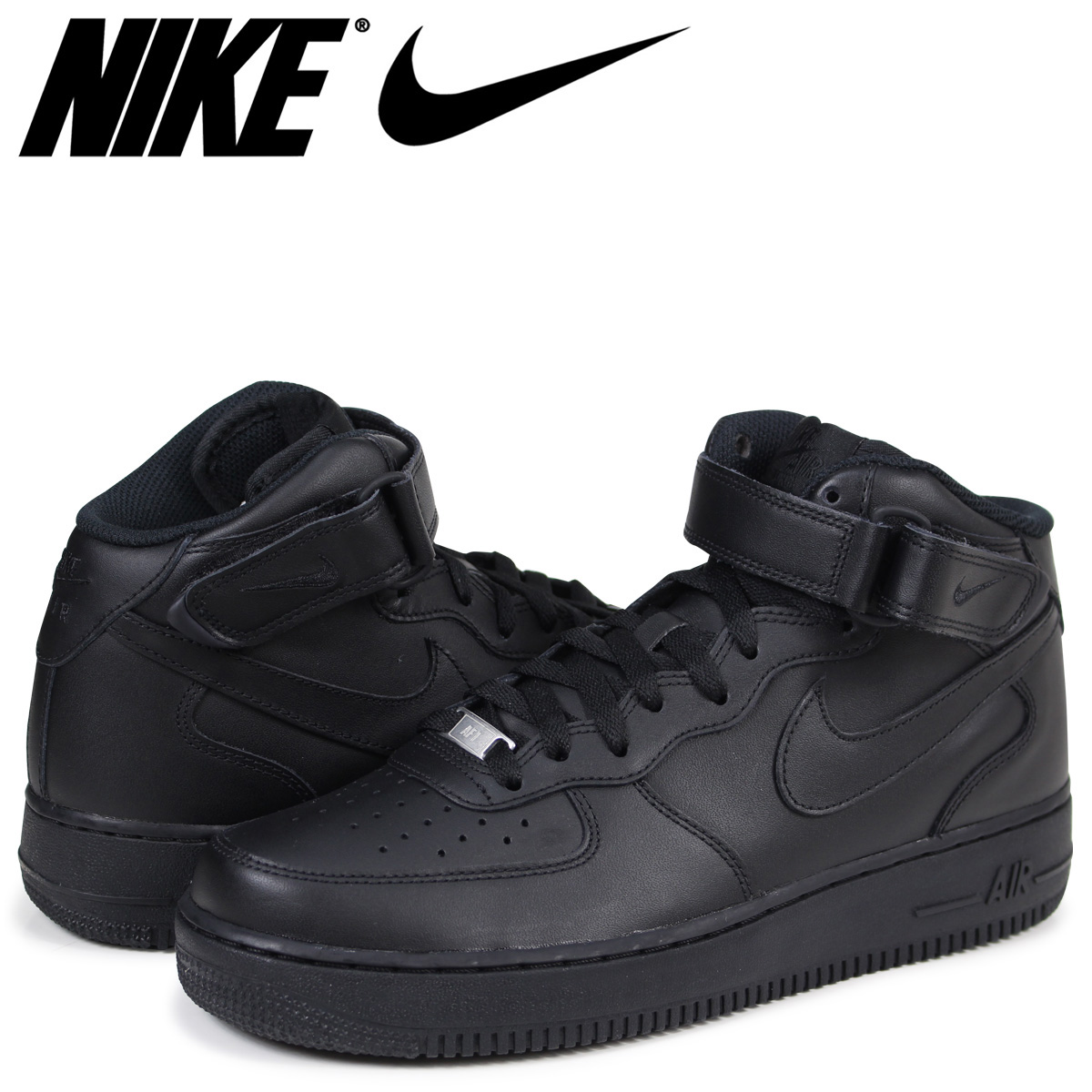 sale retailer c9405 e8d36 NIKE AIR FORCE 1 MID 07 Nike air force 1 sneakers men black 315,123-001