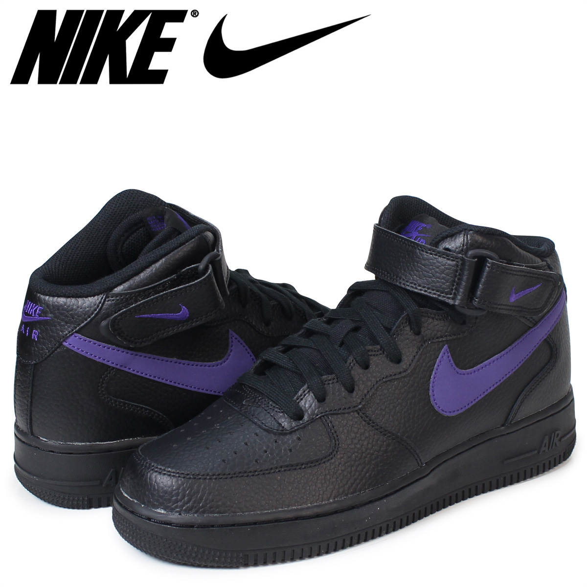 Nike NIKE air force 1 MID sneakers AIR FORCE 1 07 315,123-044 men's shoes black [load planned Shinnyu load in reservation product 9/16 containing]