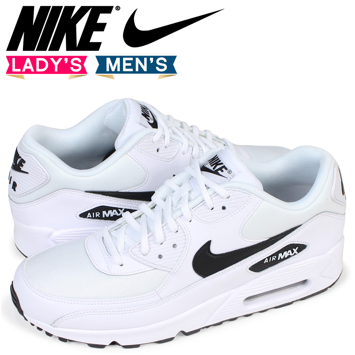 Nike NIKE Air Max 90 Lady's sneakers WMNS AIR MAX 90 325,213-131 men's shoes white [the load planned additional arrival in reservation product 12/ 22 ...