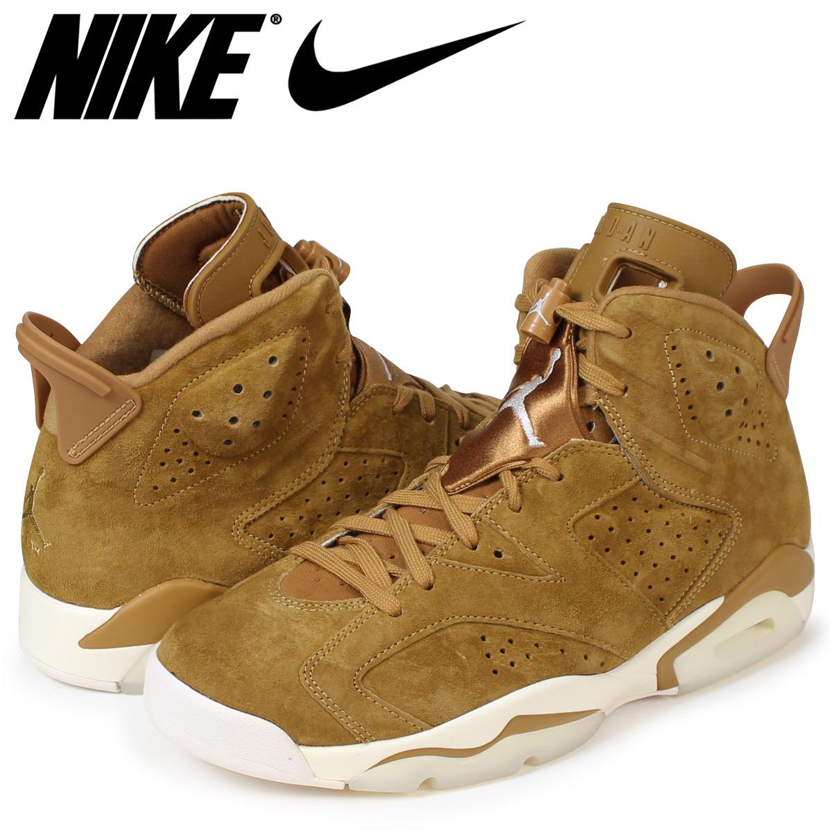 b64af1b6833963 NIKE AIR JORDAN 6 RETRO WHEAT Nike Air Jordan 6 nostalgic sneakers men brown  384