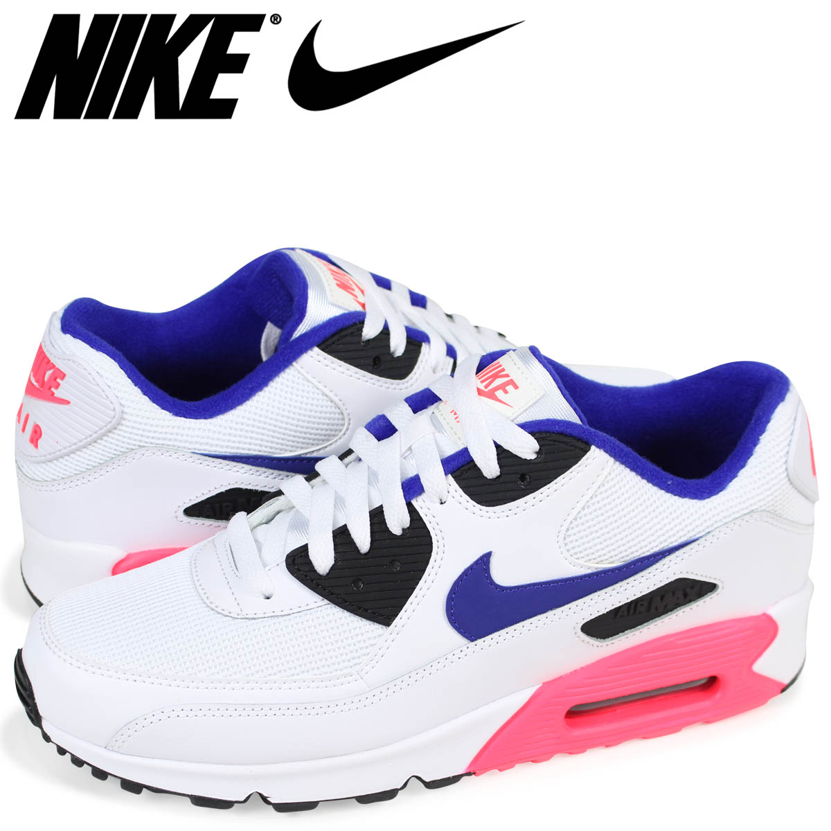 save off 9c521 ae841 NIKE AIR MAX 90 ESSENTIAL Kie Ney AMAX 90 essential sneakers men 537,384-136  white  4 3 reentry load