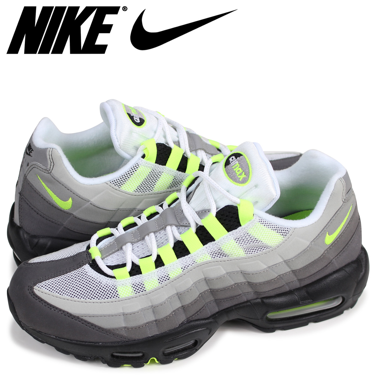 SneaK Online Shop | Rakuten Global Market: Nike NIKE Air Max 95 sneakers men AIR MAX 95 OG 554,970-071 neon yellow [going to be received reservation product about the beginning of March Shinnyu load]