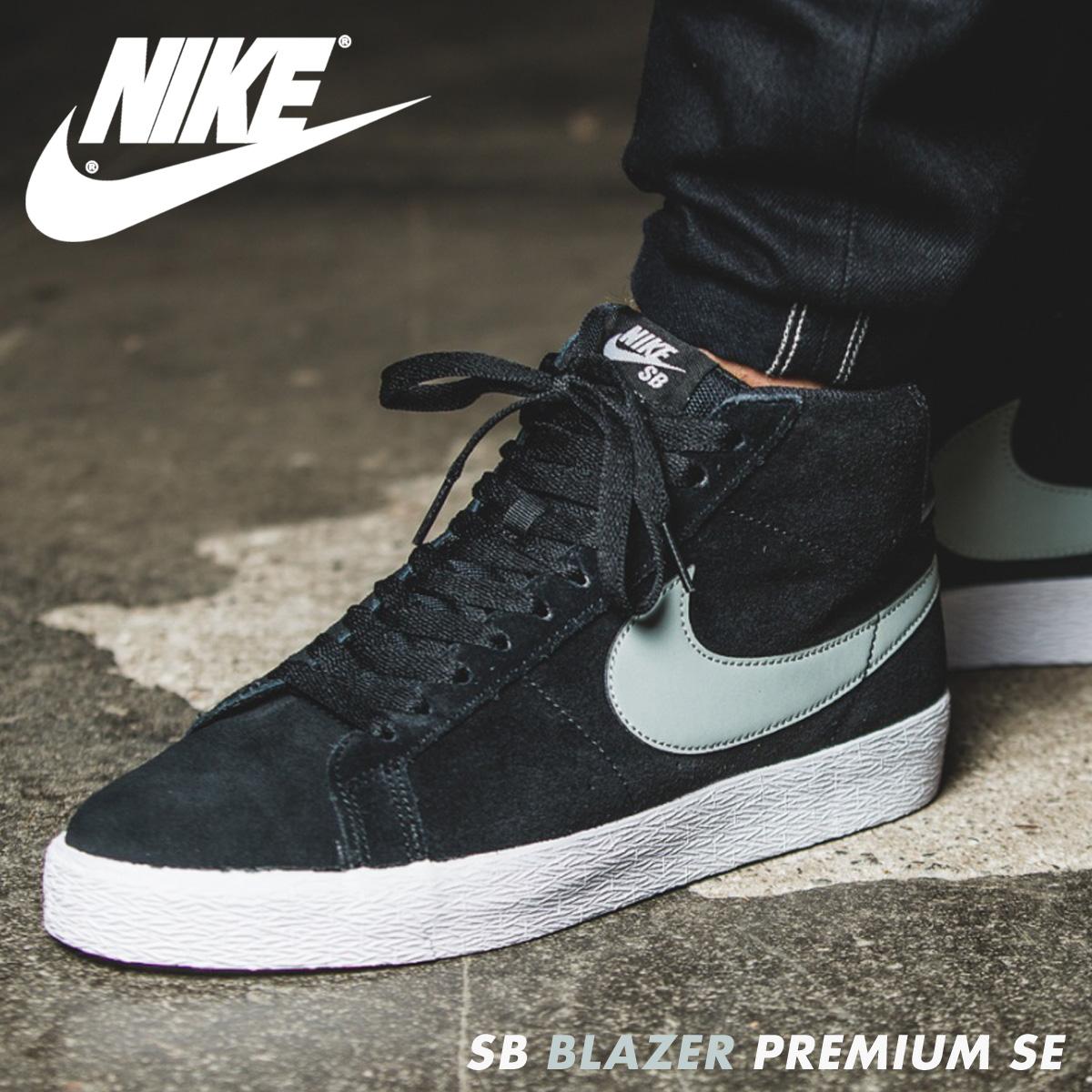 NIKE SB BLEAZER PREMIUM SE Nike blazer sneakers men black 631,042 003
