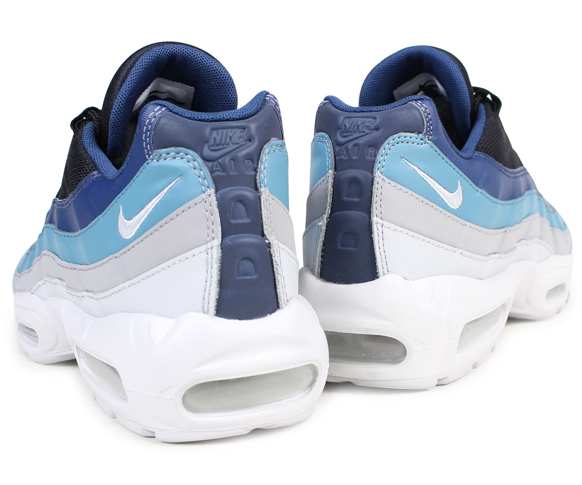 Shoes NIKE Air Max 95 Essential 749766 026 Pure PlatinumBlackNavy