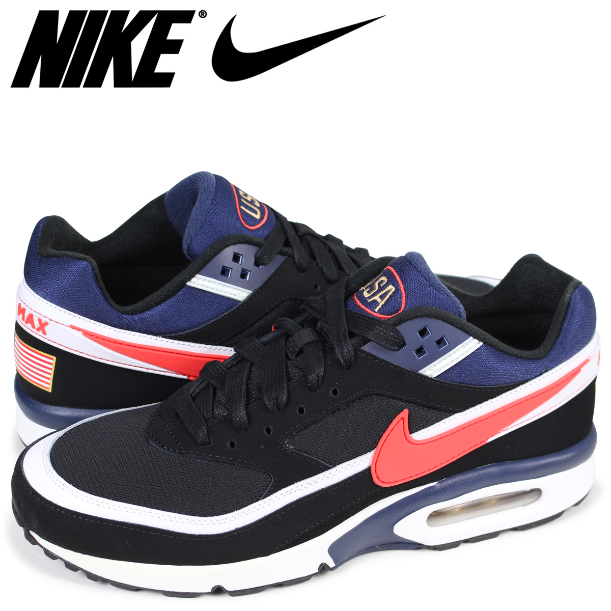 Nike NIKE Air Max BW sneakers men AIR MAX PREMIUM USA 819,523-064 navy