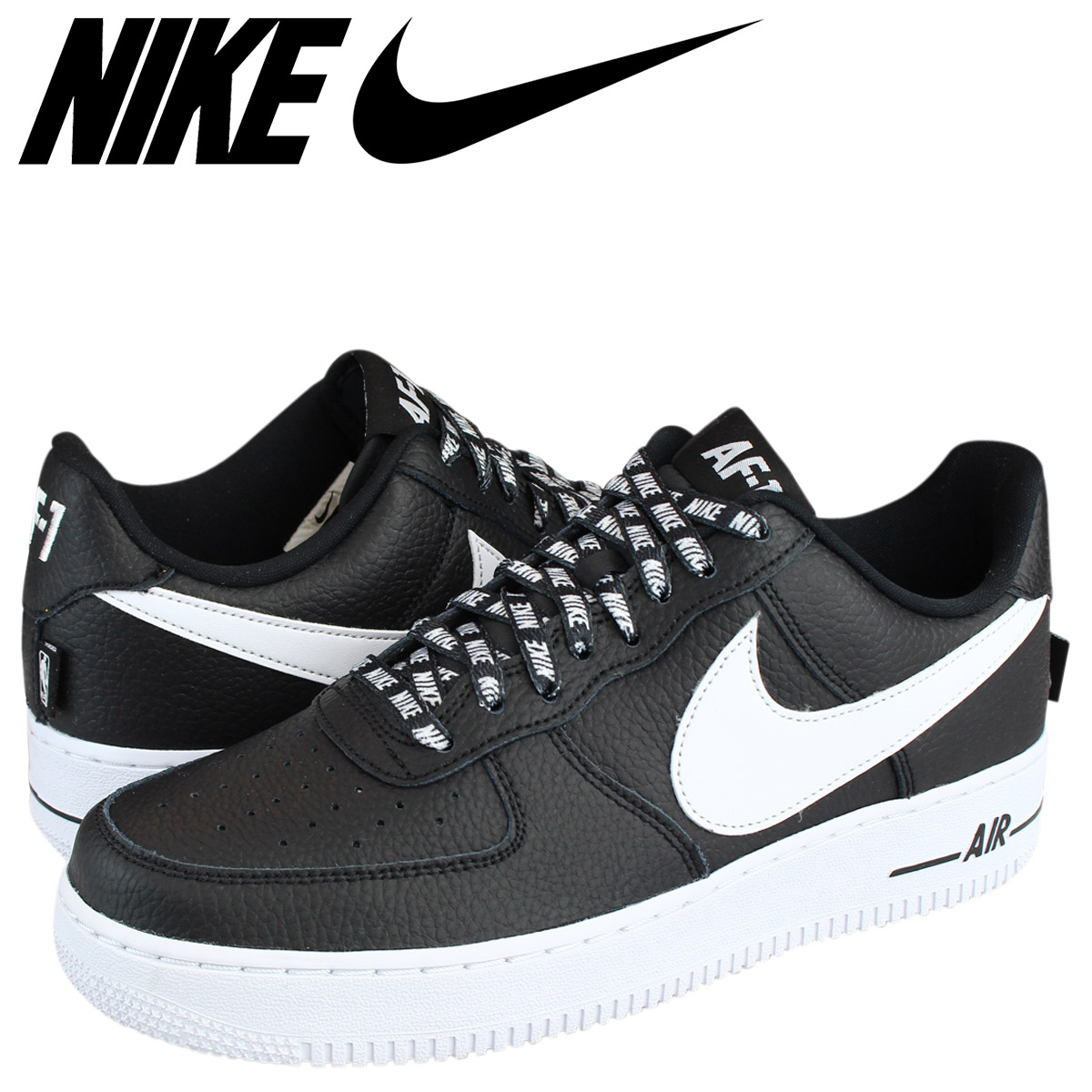 Nike NIKE air force 1 07 LV8 sneakers AIR FORCE 1 STATEMENT GAME  823,511-007 men's black white