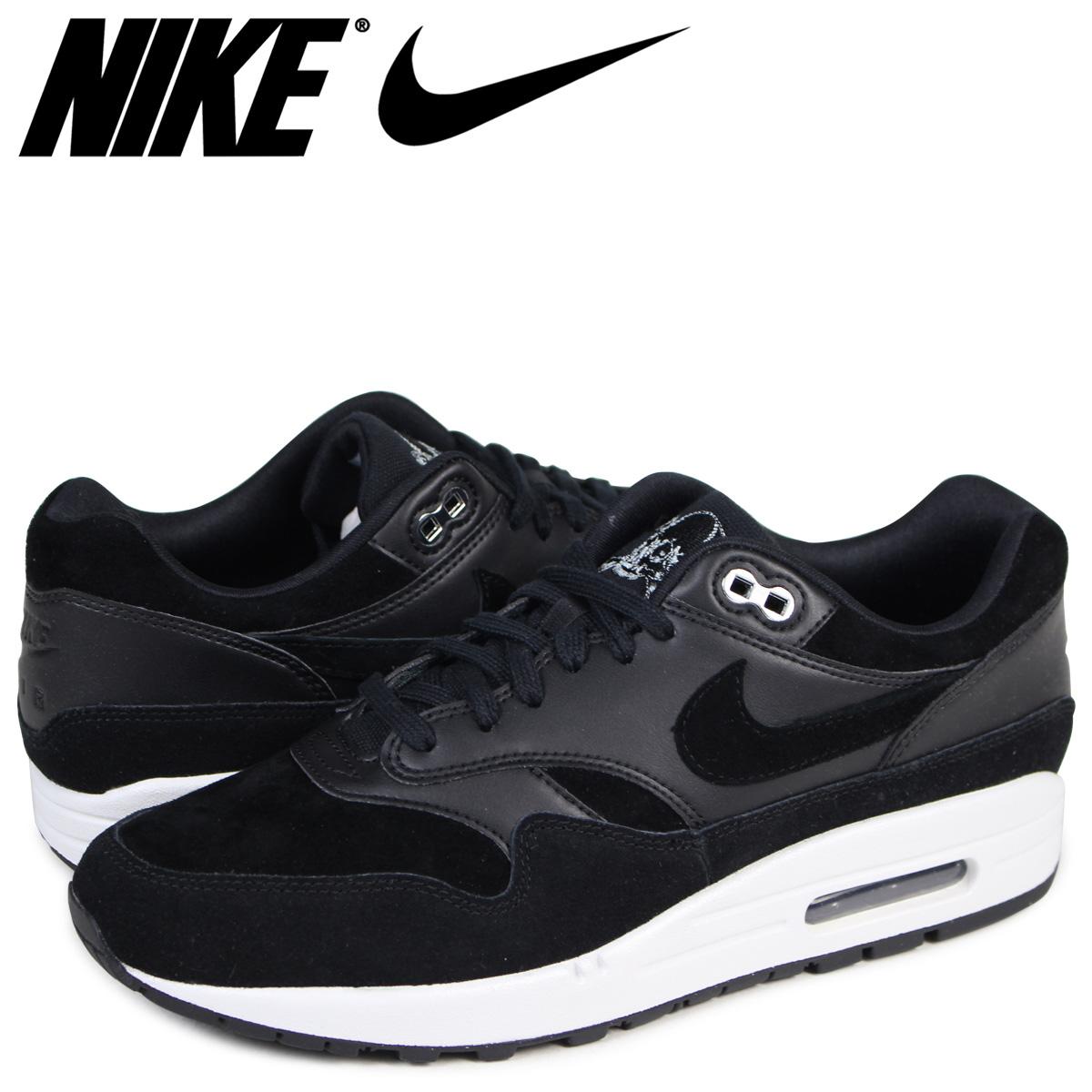 5e372f7981372 Nike NIKE Air Max 1 premium sneakers AIR MAX 1 PRMEIUM 875,844-001 men's  black ...