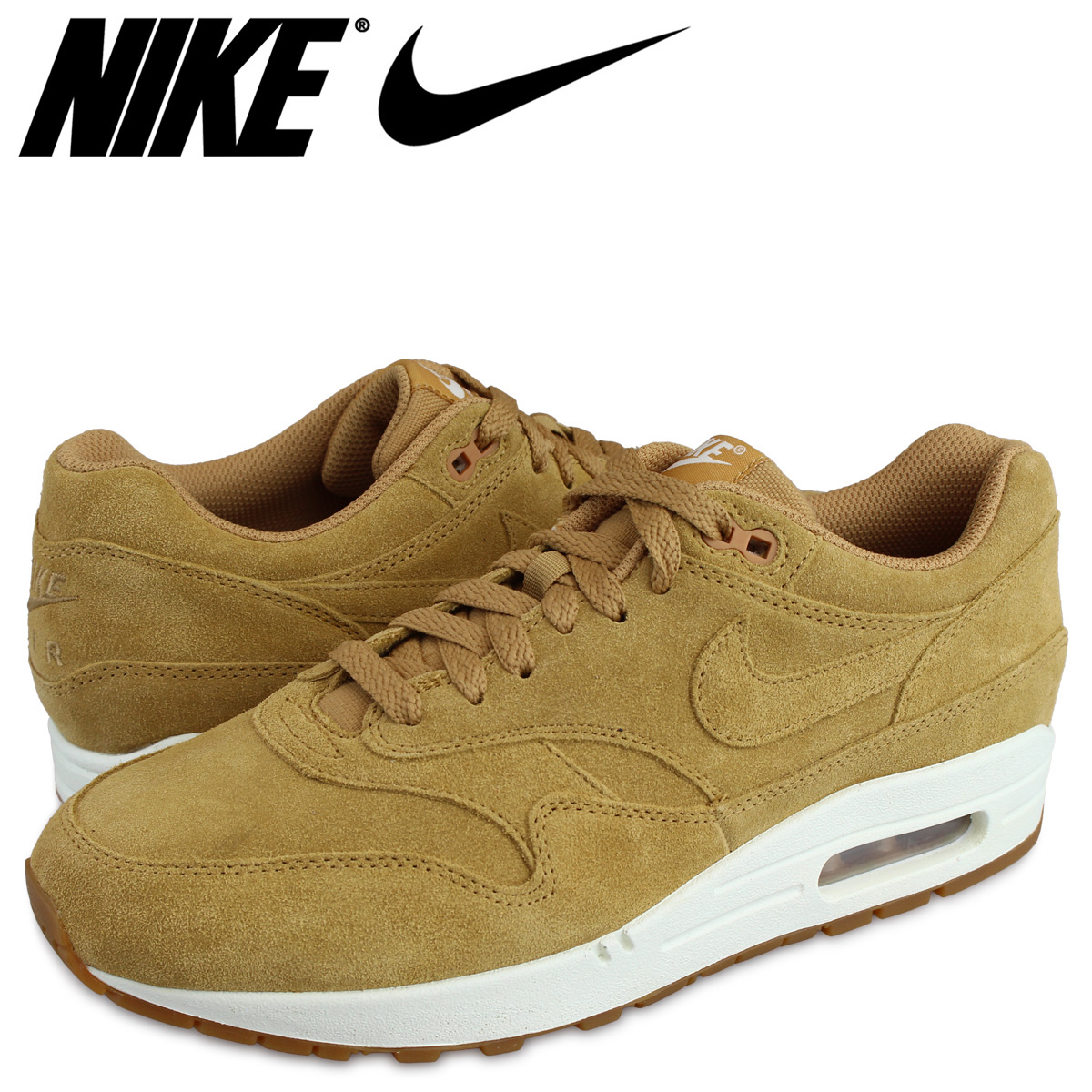 new styles 07518 cd516 Nike NIKE Air Max 1 premium sneakers AIR MAX 1 PREMIUM WHEAT 875,844-203  men s ...