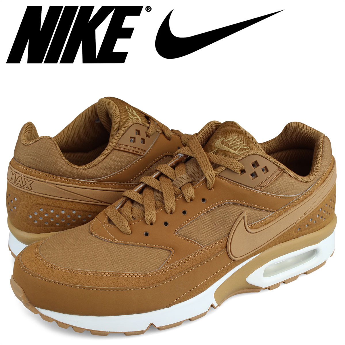 Nike NIKE Air Max BW sneakers AIR MAX 881,981 200 men's big window light brown