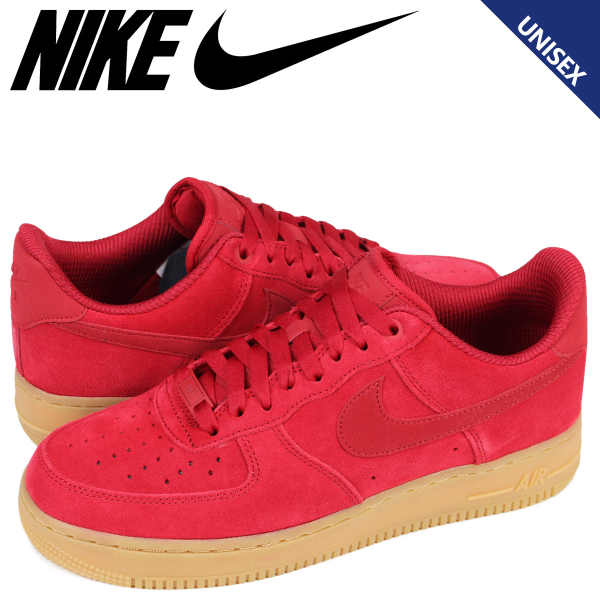 new styles 62392 0b308 Nike NIKE air force 1 07 lady s men s sneakers WMNS AIR FORCE 1 SE 896,184-601  red