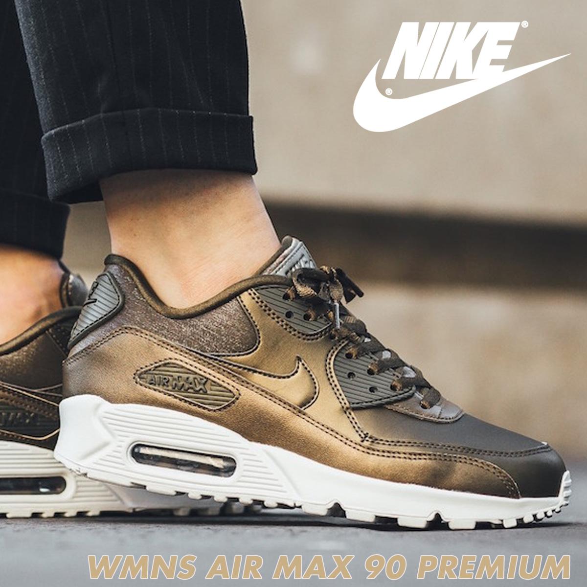 size 40 810e3 a3b91 Nike NIKE Air Max 90 Ladys sneakers WMNS AIR MAX 90 PREMIUM 896,497-901  shoes brown 1023 Shinnyu load
