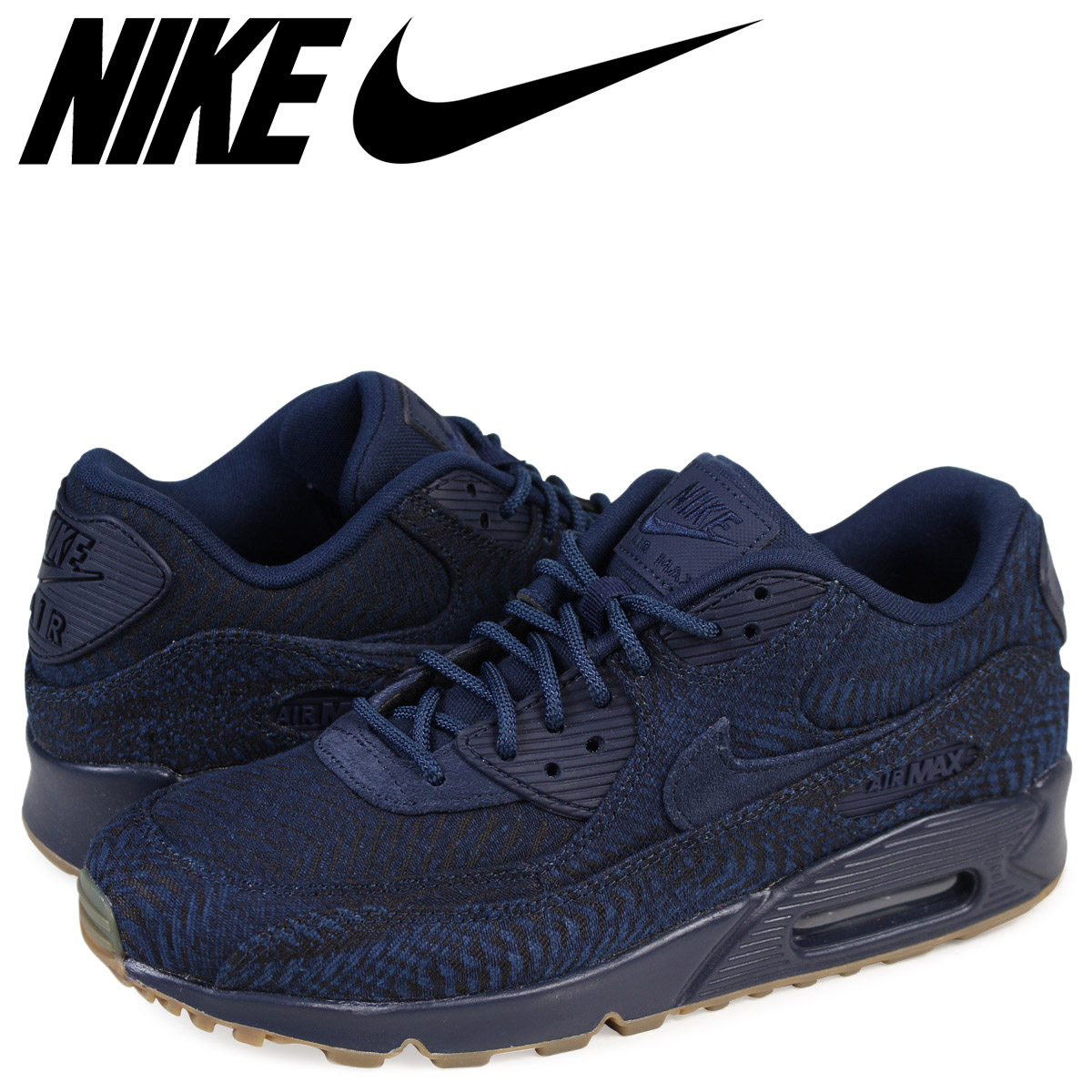 new concept 1f1db 4f2ac Nike NIKE Air Max 90 sneakers AIR MAX 90 PREMIUM JACQUARD 918,358-400 mens  shoes navy load planned Shinnyu load in reservation product 928  containing