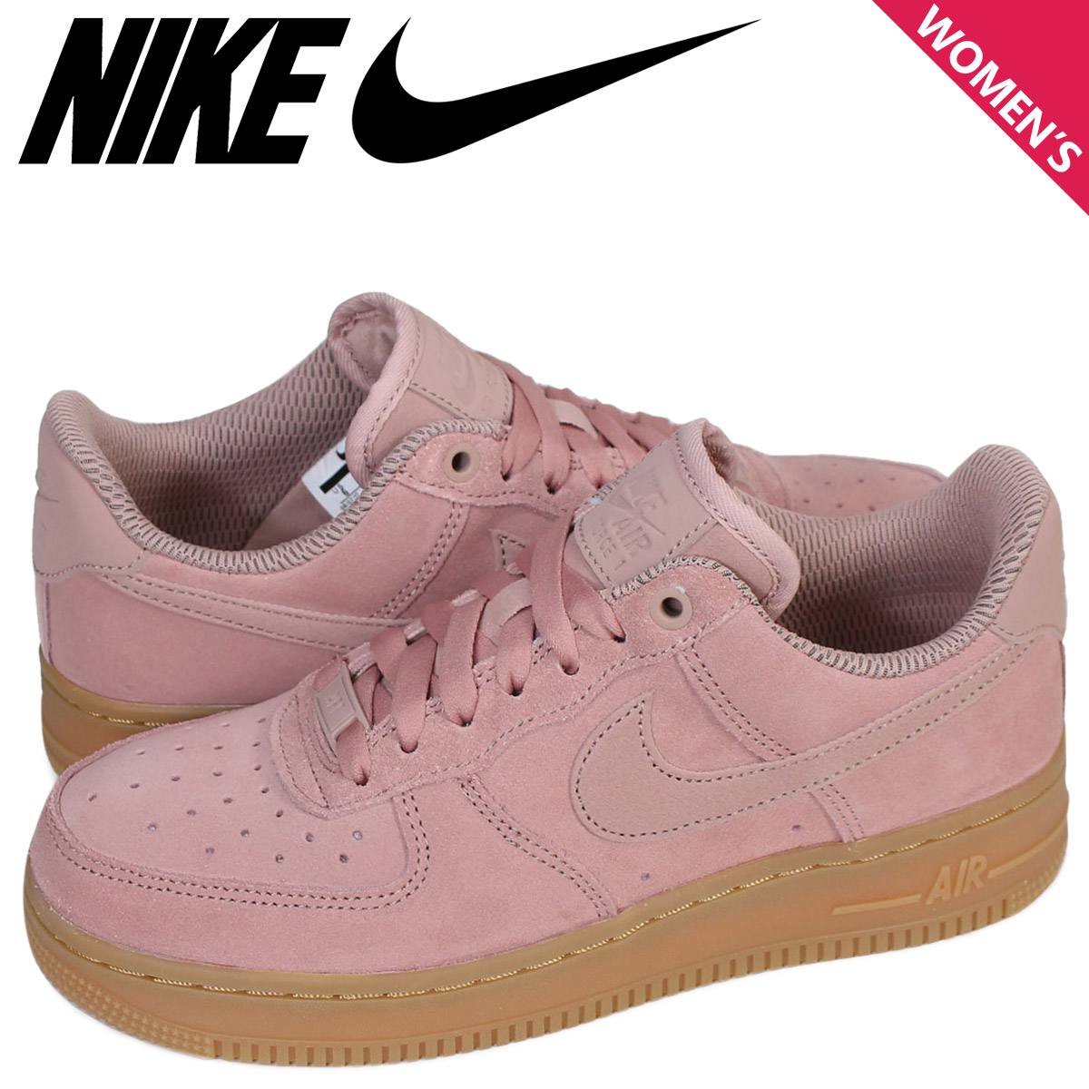 Nike NIKE air force 1 07 lady's sneakers WMNS AIR FORCE 1 SE AA0287 600 pink