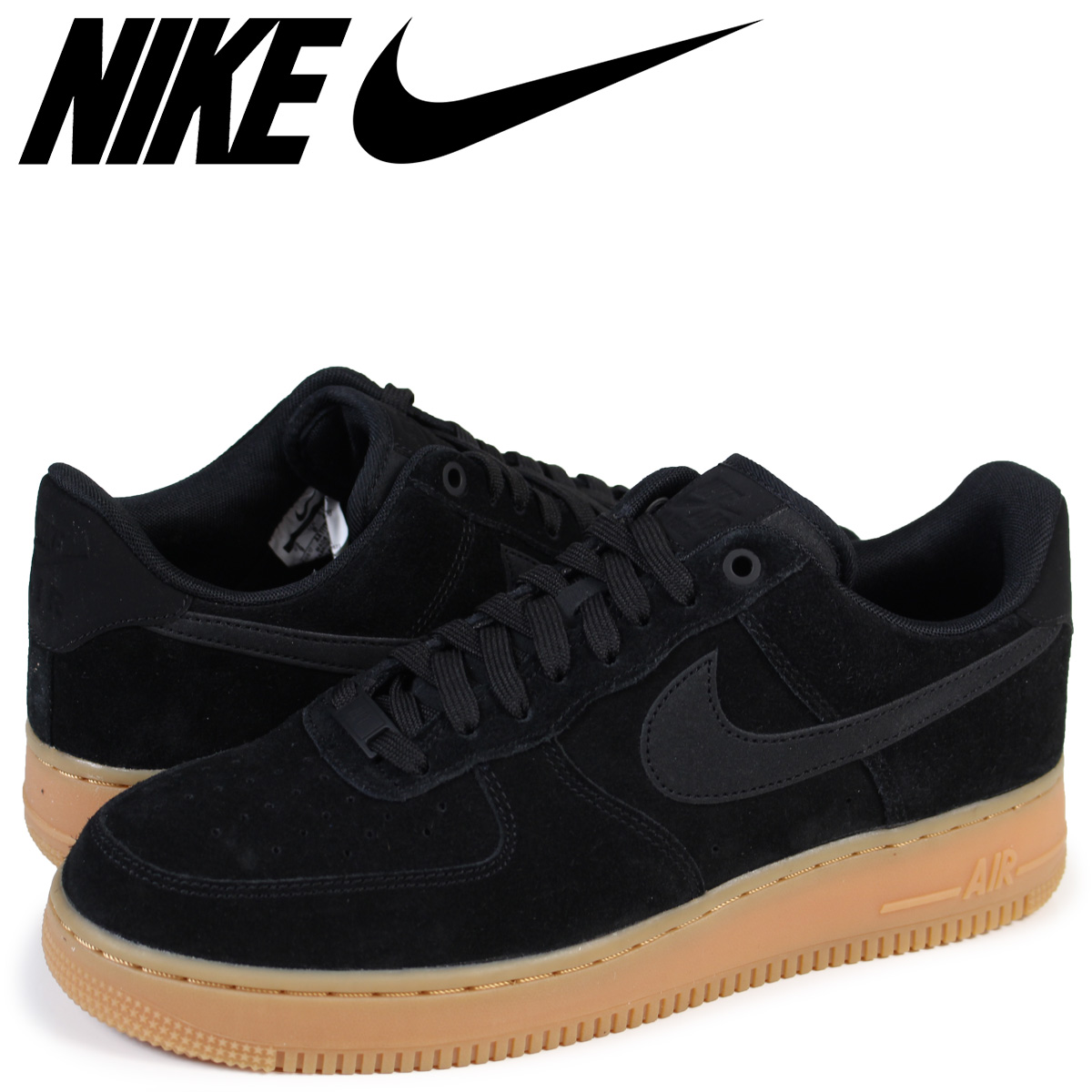 sports shoes 31189 2f85e Nike NIKE air force 1 07 LV8 sneakers AIR FORCE 1 SUEDE AA1117-001 メンズエレベート  shoes black load planned Shinnyu load in reservation product 928 ...