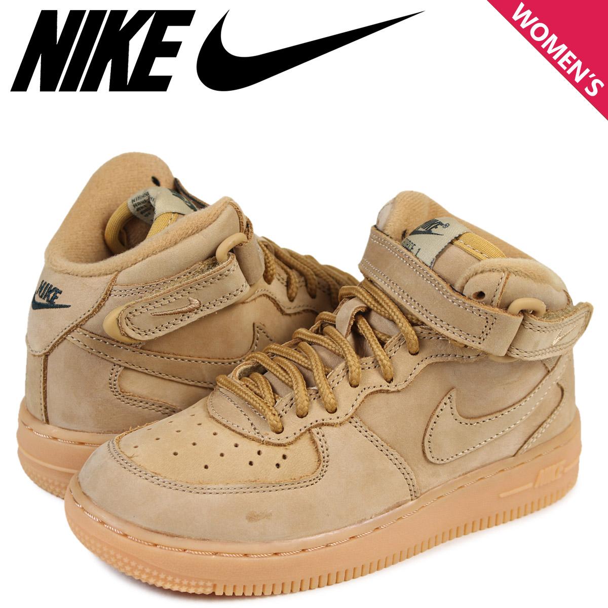 promo code 2e81e bcb97 Nike NIKE air force 1 mid baby sneakers AIR FORCE 1 WB TD AH0757-203 brown