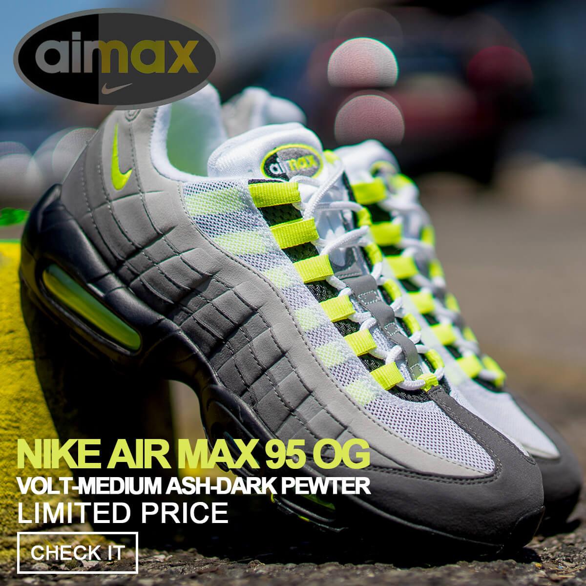 5ee0a2f7dfc214 SneaK Online Shop  Nike NIKE Air Max 95 sneakers men AIR MAX 95 OG ...