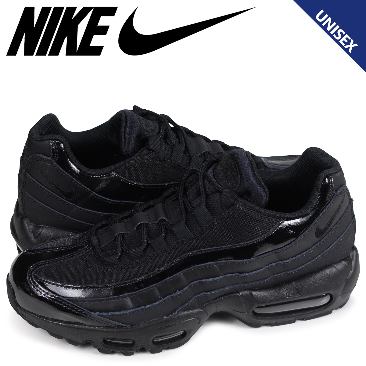 best authentic c39a2 61171 Nike NIKE Air Max 95 sneakers Lady s men WMNS AIR MAX 95 307,960-010 black