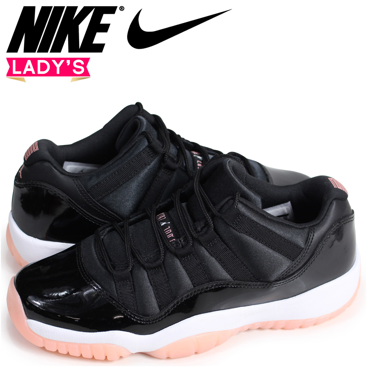 Nike NIKE Air Jordan 11 Lady s sneakers AIR JORDAN 11 RETRO LOW GG  580 a0ee06fe07f2