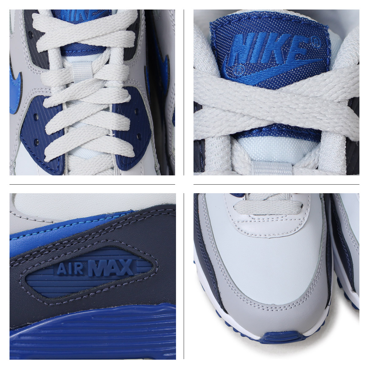 Nike NIKE Air Max 90 Lady's sneakers AIR MAX 90 LEATHER GS 833,412 407 blue