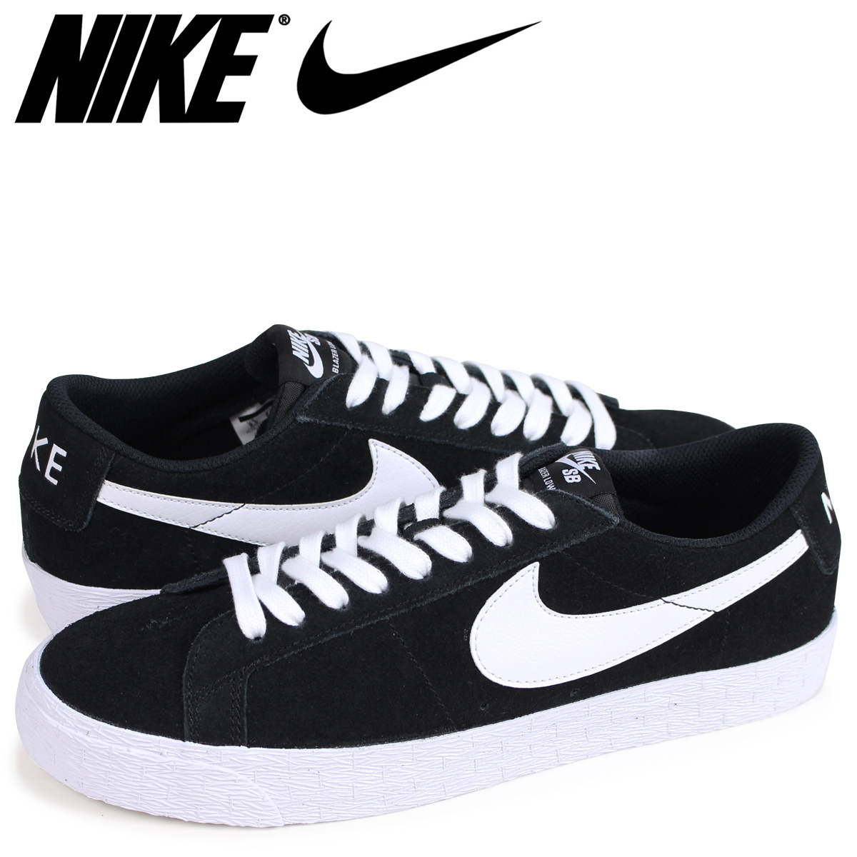 buy online a642b 48d3f NIKE SB BLAZER ZOOM LOW Nike blazer low sneakers men black 864,347-019