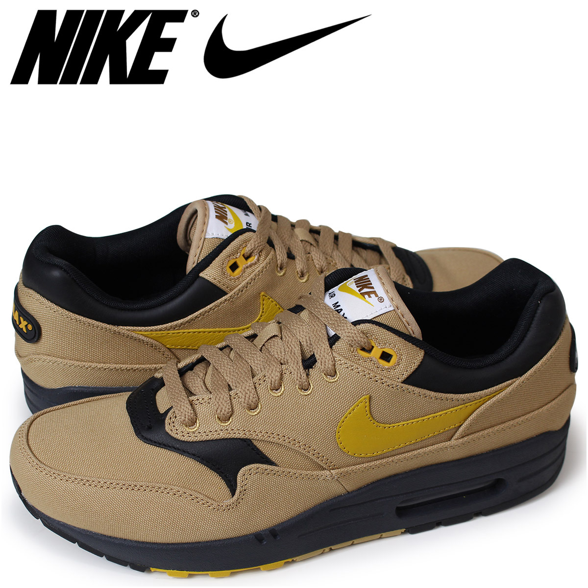 1d8de90af2 Nike NIKE Air Max 1 premium sneakers men AIR MAX 1 PREMIUM 875,844-700  beige ...