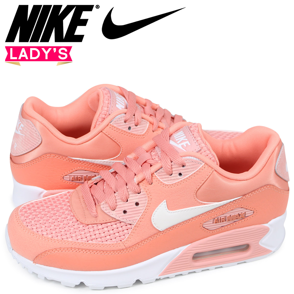 Nike NIKE Air Max 90 Lady's sneakers WMNS AIR MAX 90 SE 881,105 604 pink