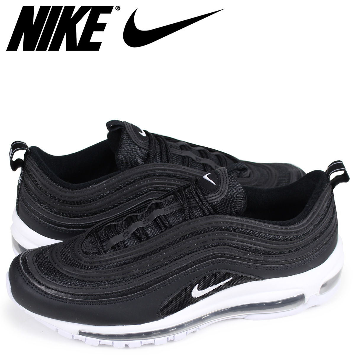 brand new ac790 3050f Nike NIKE Air Max 97 sneakers men AIR MAX 97 921,826-001 black load  planned Shinnyu load in reservation product 413 containing