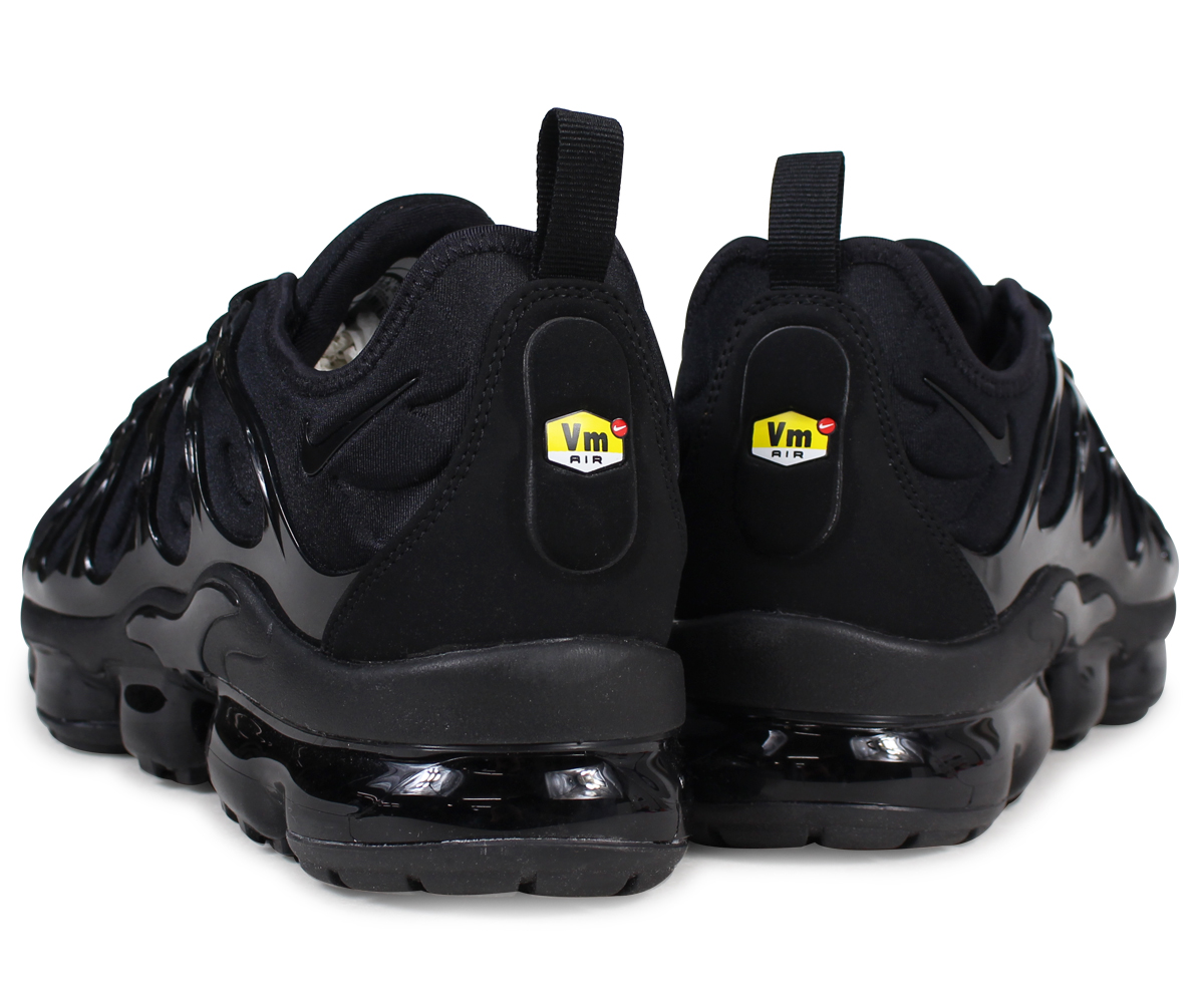 hot sale online dcc46 07aa8 NIKE AIR VAPORMAX PLUS Nike air vapor max plus sneakers men black  924,453-004 [7/26 reentry load]