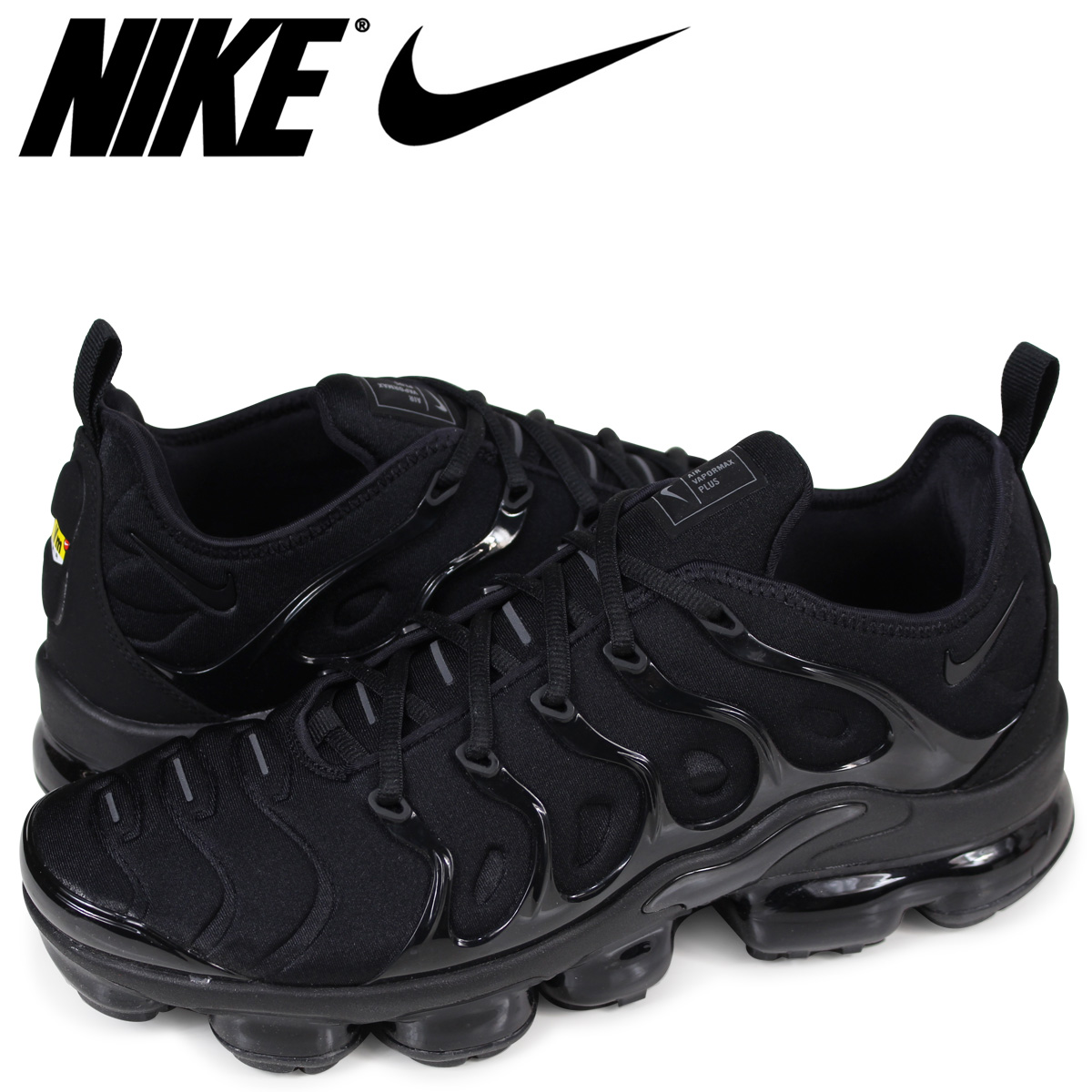 best authentic e1f47 b0483 NIKE AIR VAPORMAX PLUS Nike air vapor max plus sneakers men black  924,453-004