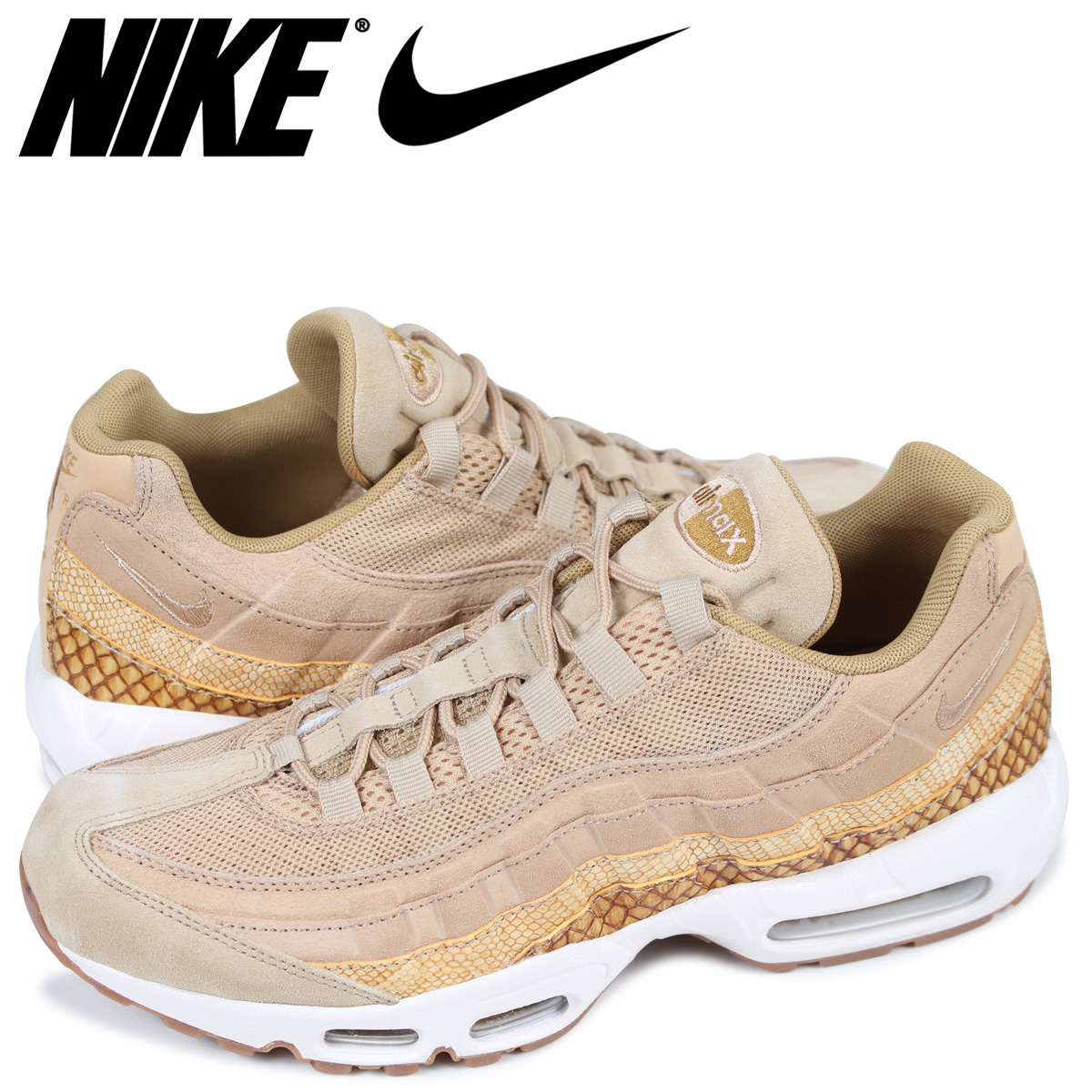 check out 6be3f f2c12 NIKE AIR MAX 95 PREMIUM SE Kie Ney AMAX 95 sneakers men 924,478-201 beige