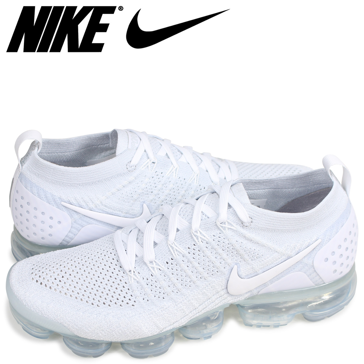 89c53185a9bc NIKE AIR VAPORMAX FLYKNIT 2 Nike air vapor max fried food knit 2 sneakers  men white 942