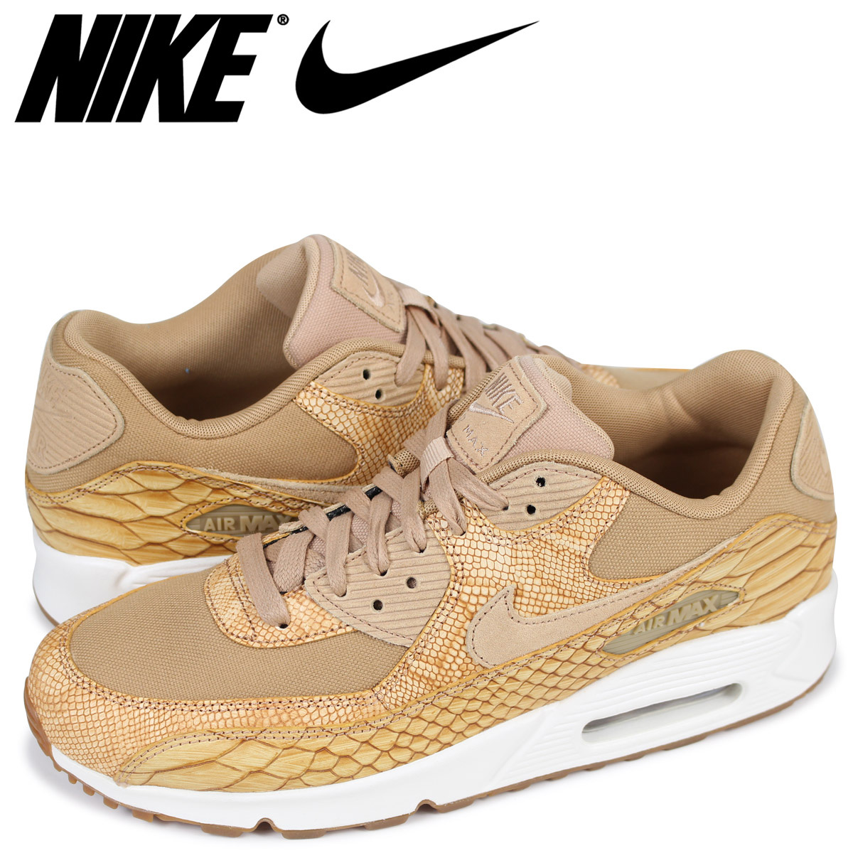 cheaper a7e15 25897 Nike NIKE Air Max 90 sneakers men AIR MAX 90 PREMIUM LEATHER AH8046-200  beige load planned Shinnyu load in reservation product 315 containing