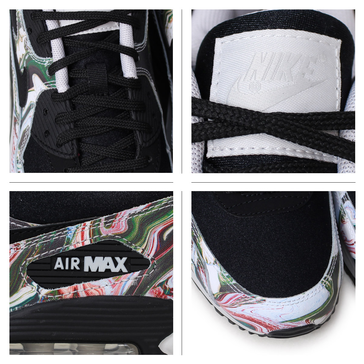 Nike NIKE Air Max 90 lady s men s sneakers WMNS AIR MAX 90 MARBLE AO1521-001  black  load planned Shinnyu load in reservation product 5 12 containing  ace1bf070
