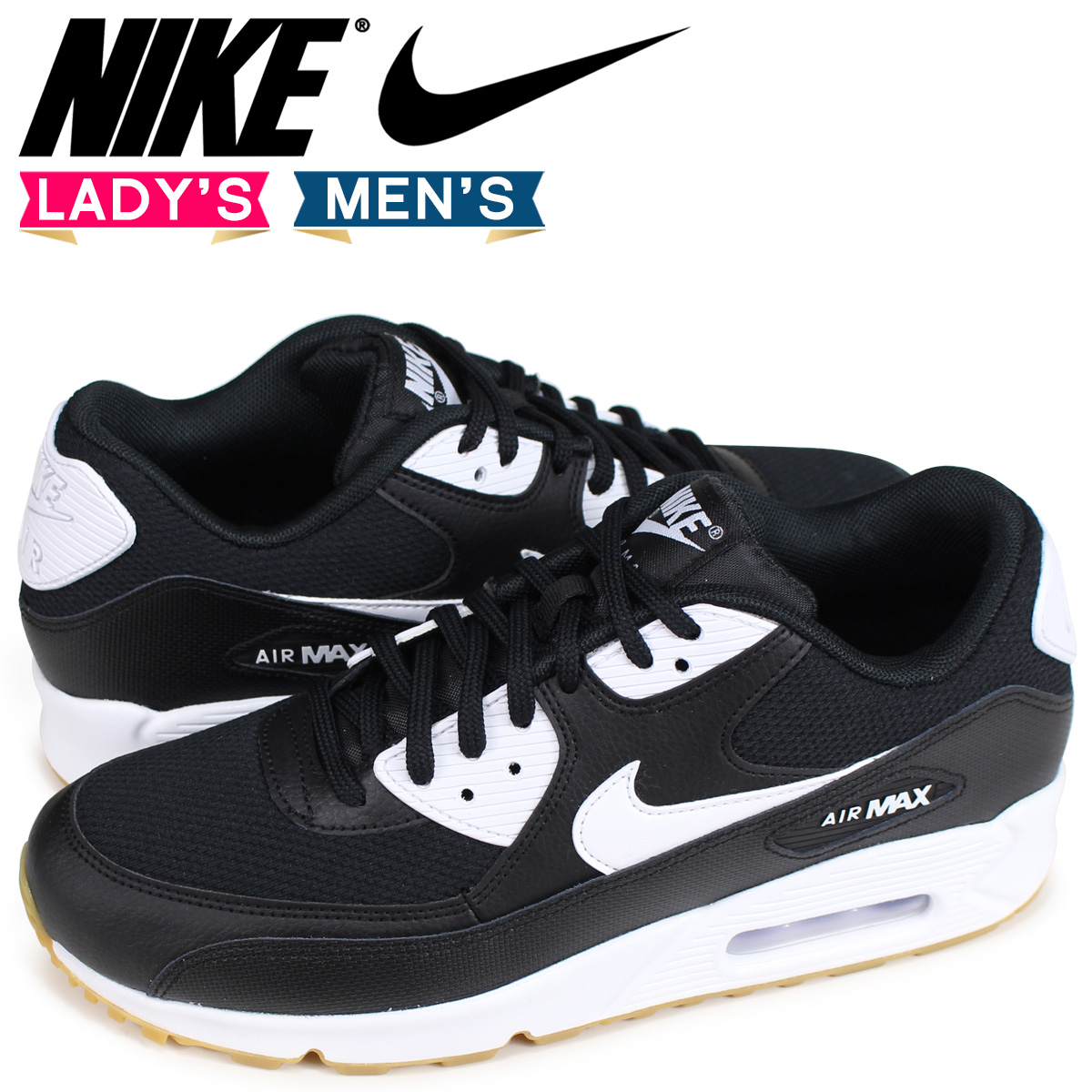 Nike NIKE Air Max 90 lady's men's sneakers WMNS AIR MAX 90 325,213 055 black