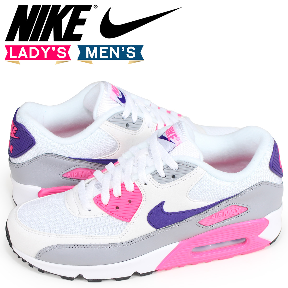 sale retailer 4ae4e 74b98 Nike NIKE Air Max 90 lady s men s sneakers WMNS AIR MAX 90 325,213-136 white