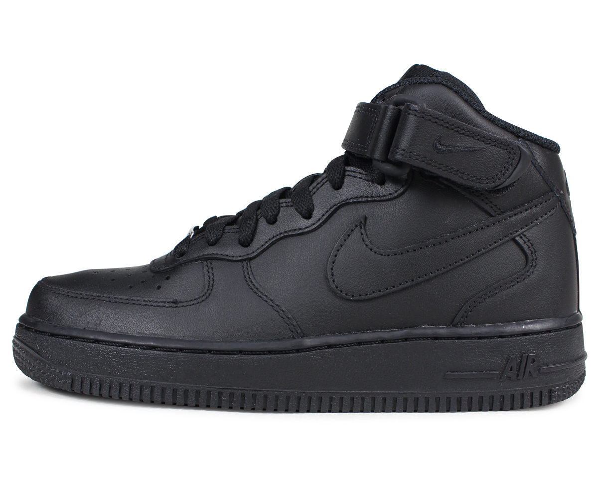 NIKE Nike Air Force sneakers Womens WMNS AIR FORCE 1 MID air force 1 mid  366731 - 001 black shoe 13e4c0d4a8