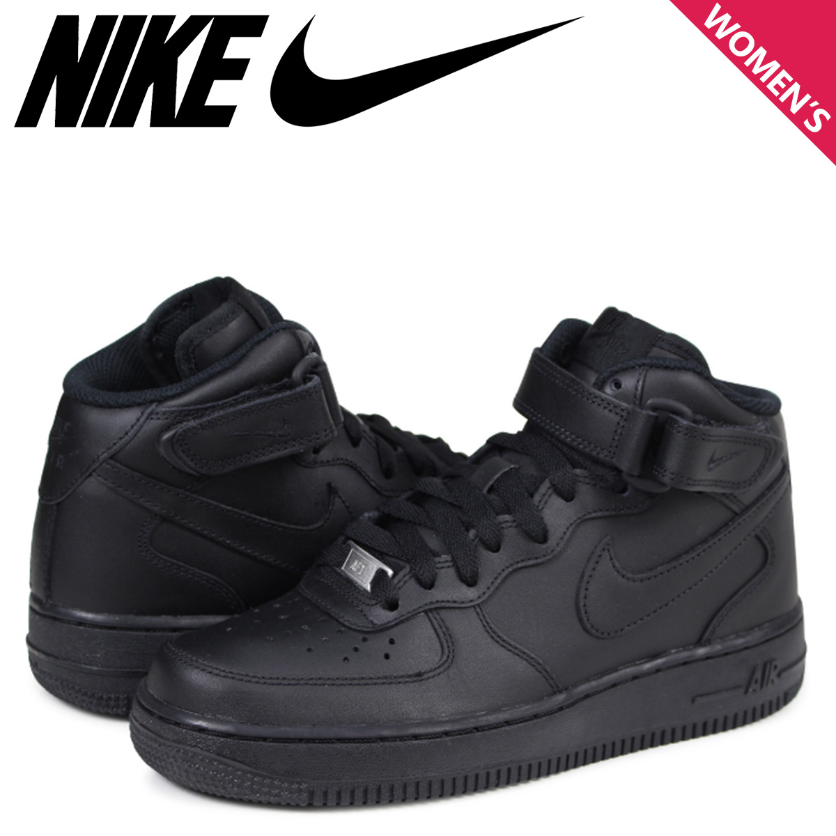 size 40 ad83f 53374 NIKE WMNS AIR FORCE 1 MID Nike air force 1 sneakers Lady s black 366,731-001