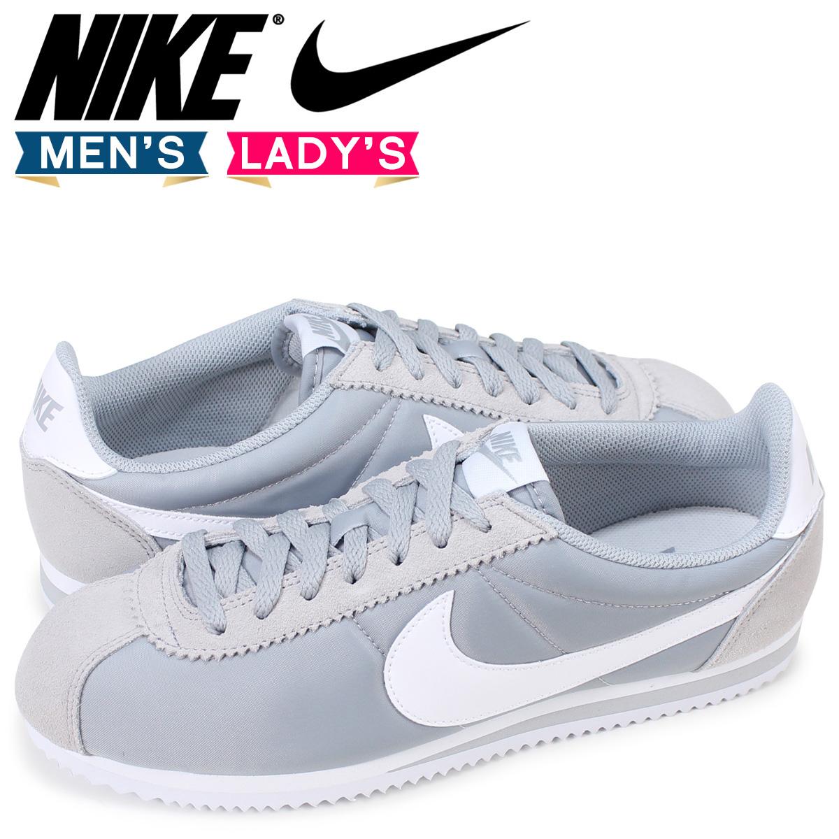 SneaK Online Shop   Rakuten Global Market: Nike NIKE classic Cortez sneaker CLASSIC CORTEZ NYLON 807472-010 Wolf grey men's women's shoes grey