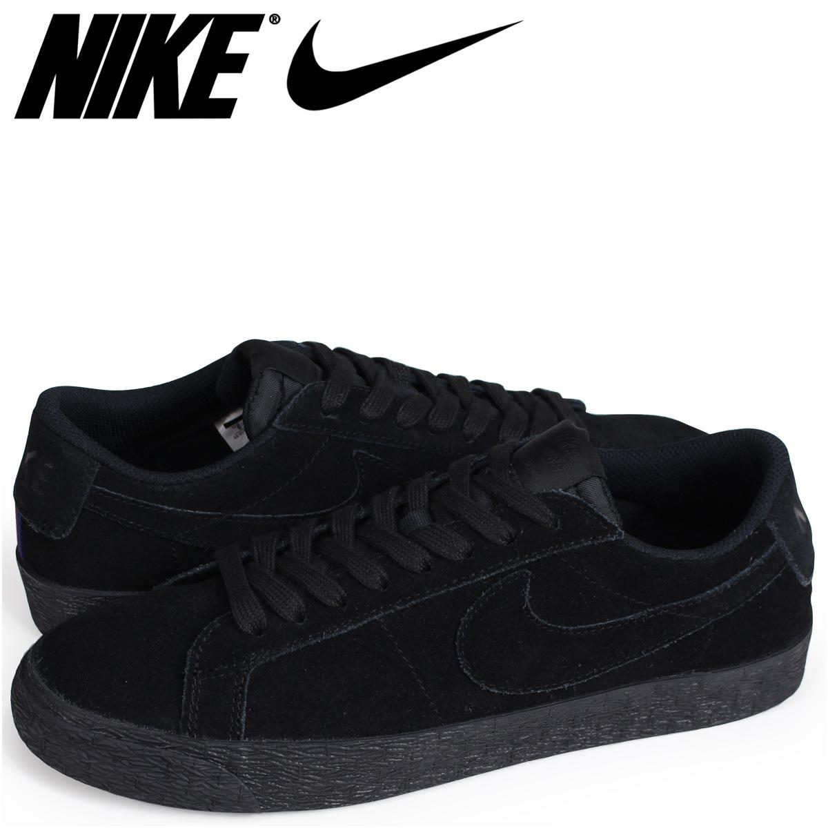 nike blazer low all black