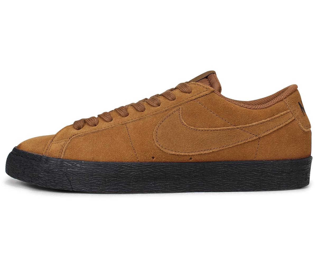 NIKE SB ZOOM BLAZER LOW Nike blazer low sneakers men brown 864,347 200