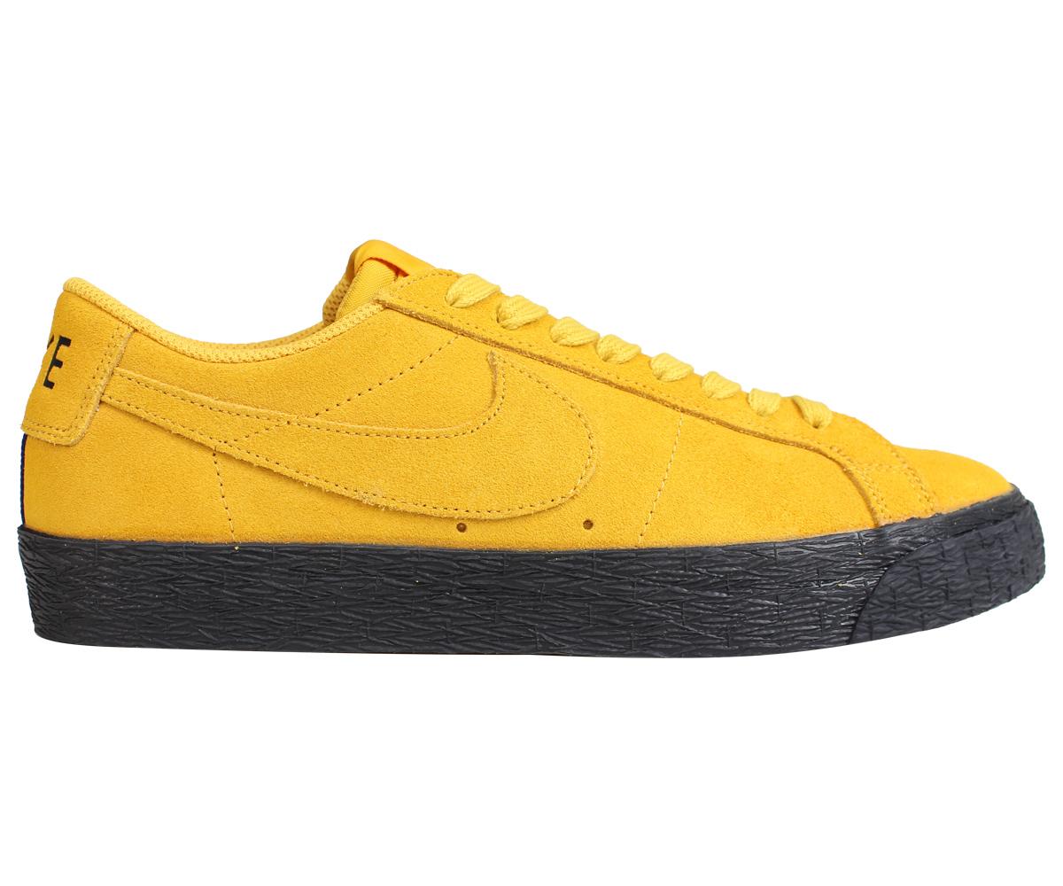 best service d52c6 ac7de NIKE SB ZOOM BLAZER LOW Nike blazer low sneakers men yellow 864,347-701