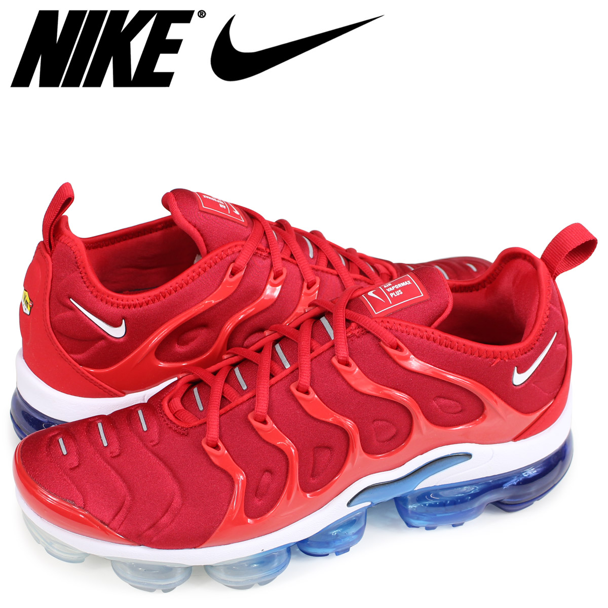 size 40 e567f 1a8dd NIKE AIR VAPORMAX PLUS Nike air vapor max plus sneakers men red 924,453-601
